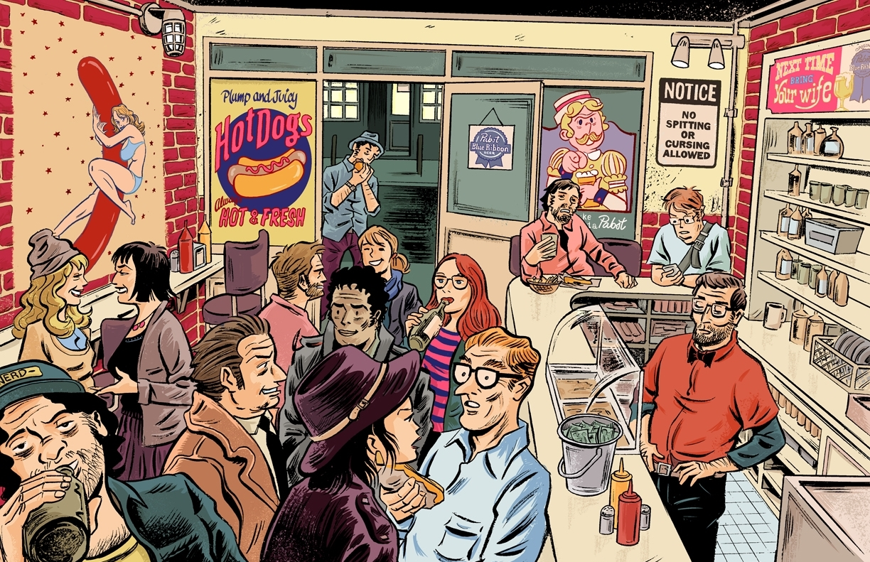 Hipsters Eating Hotdogs
