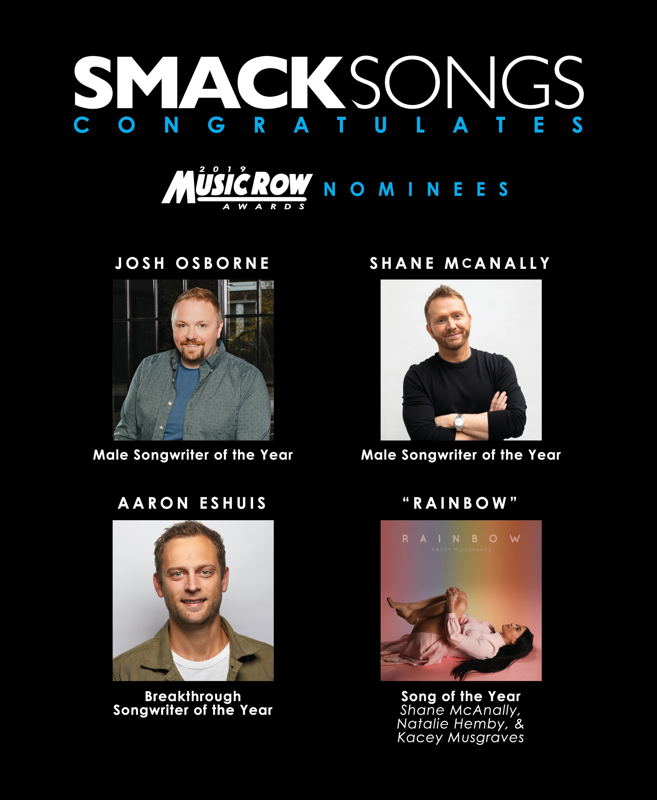 SMACK MusicRow Awards Nominations