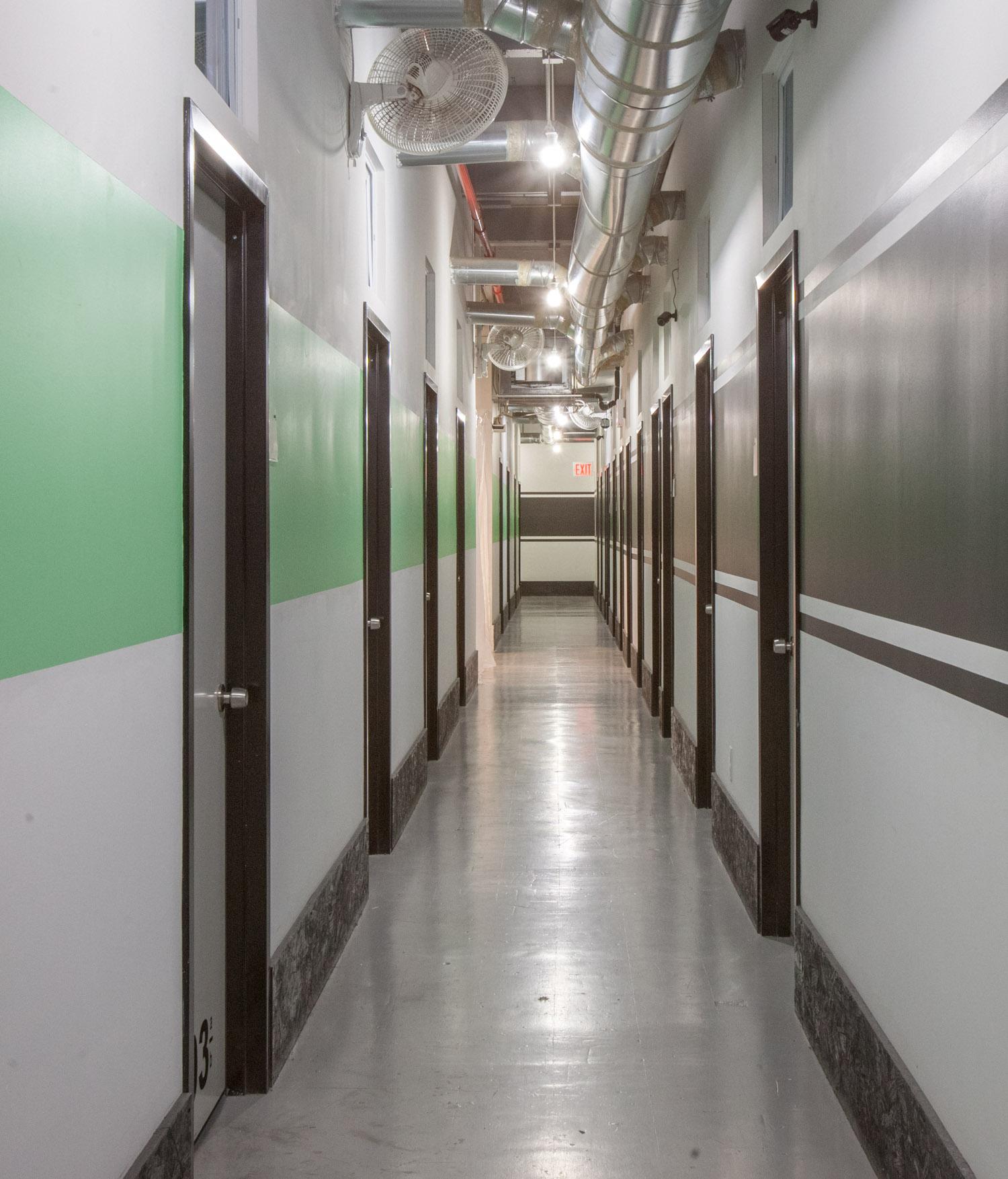 Hallway and studios