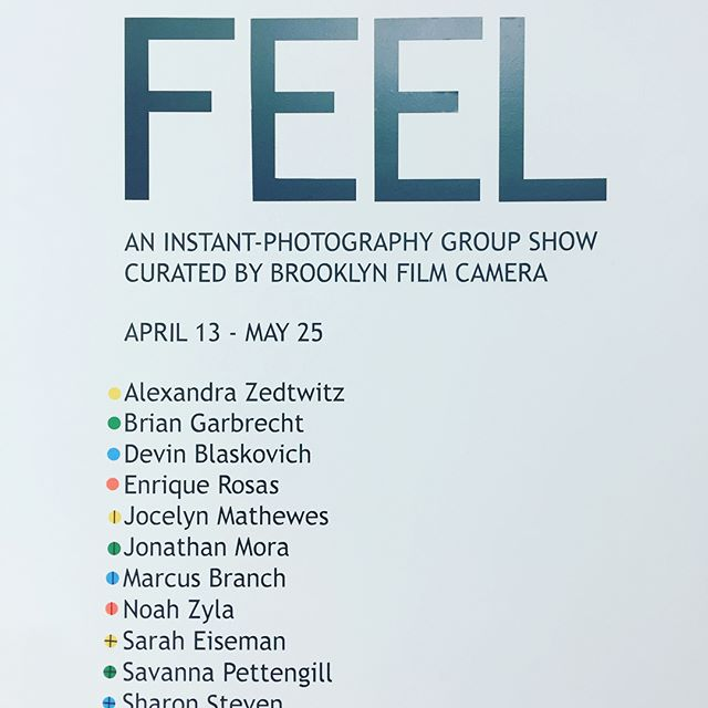 FEEL - opens today. Curated by @brooklynfilmcamera  Come celebrate with us at 203 Harrison place Brooklyn today 6-9. 1 block from the L subway @ the Jefferson stop.  The after party @houseofyesnyc  #BrooklynBrush #Bushwick #NYC #Studios #Maker #Makers #Artist #Entrepreneur #Creative #Art #ArtistLife #Williamsburg #ItsAllAboutTheArt #MakerSpace #MakerStudio #ArtStudio #ArtCommunity #ArtTribe #instantpicture #polaroid #photographyArt #reallifecaptured