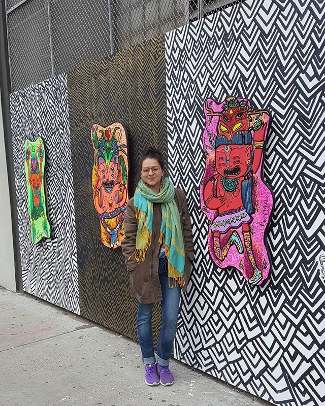 Artist YK Garzon @ykgarzon with her mural on our community project. At 44 stewart av location. Thank you for you poetic images! * * #womanartist #mural  #brooklynbrushstudios #remergestudios  #bushwick #williamsburg #art #kunst #arte #gallery #creativecommunity #thebrushx #bxcommunity #supportcommunity #supportart #brooklynart #artistspace #makerspace #entrepreneur