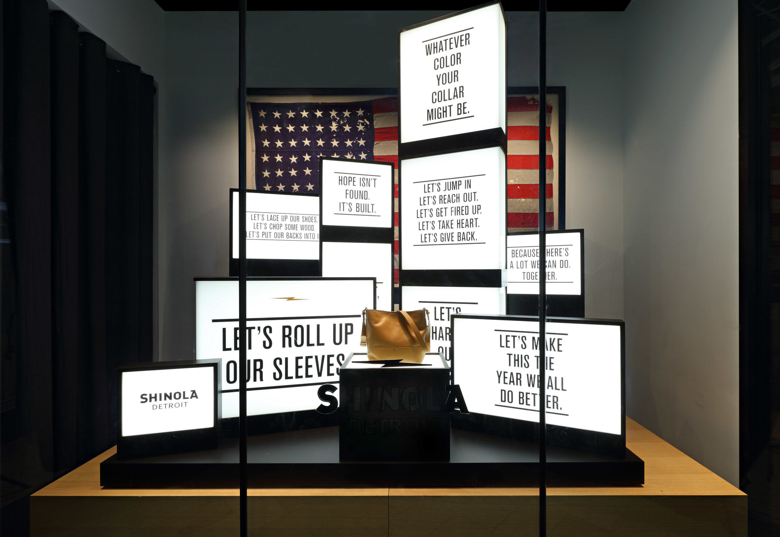 Shinola Slogan Lightboxes