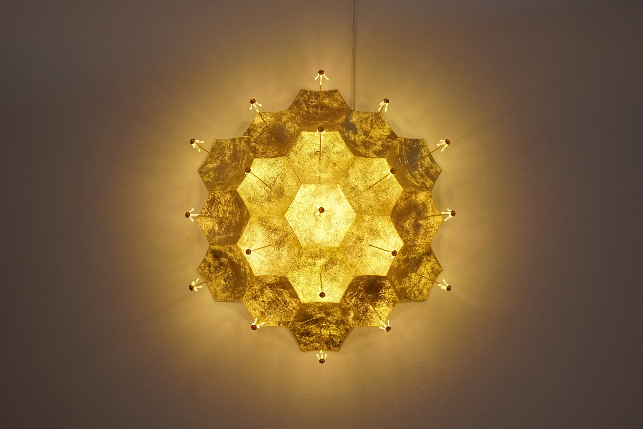 Kenzan Tsutakawa-Chinn Hexagon Lamp