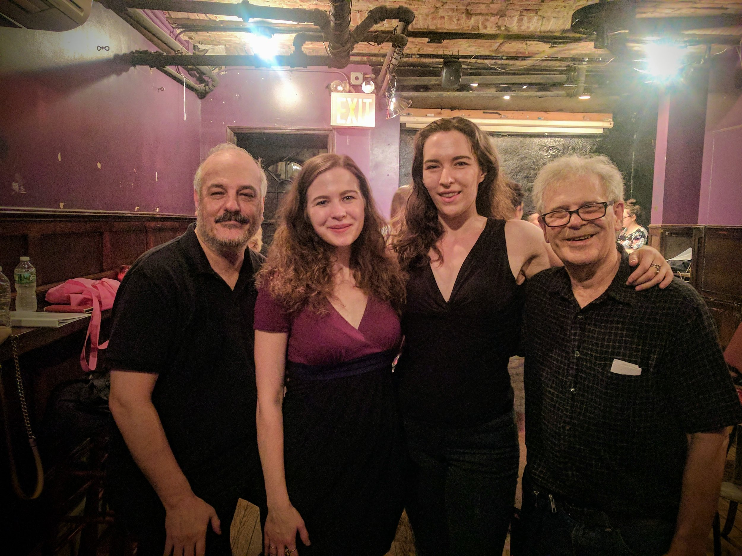 Eric Grunin, Anna Paone, Krystal Sobaskie, and Ed Levy at Primary Stages ESPA 10th Anniversary Concert before the debut of two of Ed and Eric's Songs.