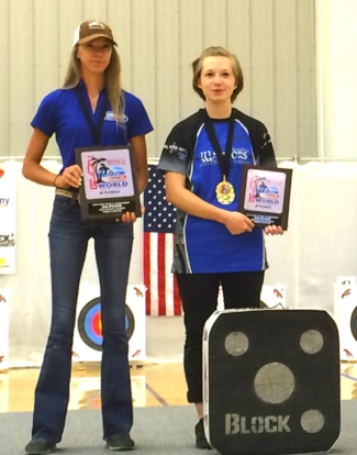 Riverlee Weaver (left) and Tabitha Way (right) are two of South Carolina's top NASP archers.