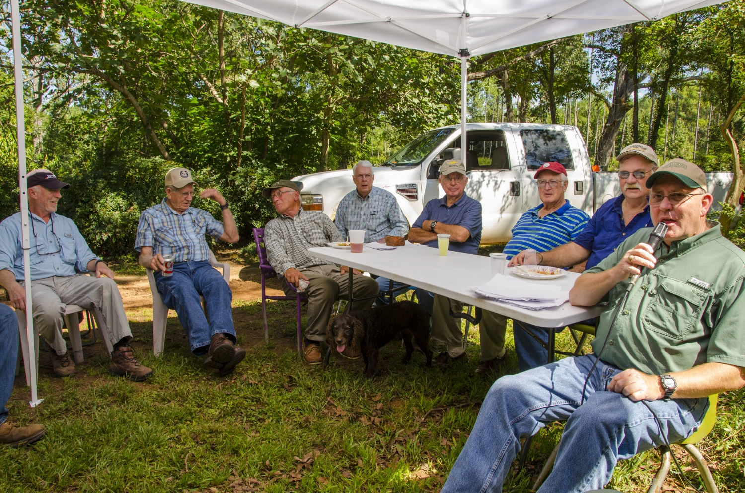 A panel of some of South Carolina's top field trial competitors told stories and took questions from an eager audience at the ASCFTC's 2nd annual Bird Dog Revival.
