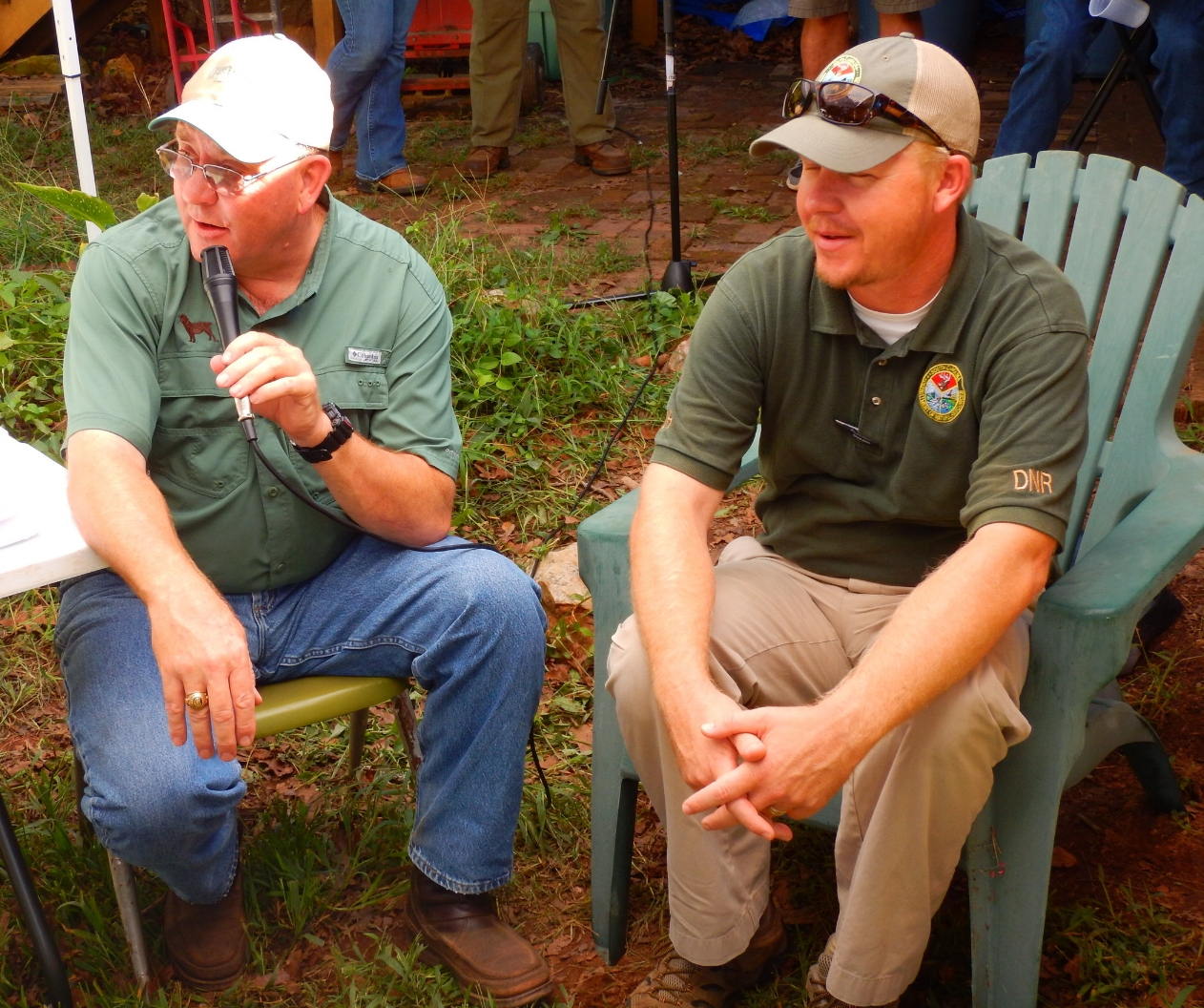 The SCDNR's Michael Hook answers questions about the South Carolina Bobwhite Quail Initiative.  photo by David Lucas