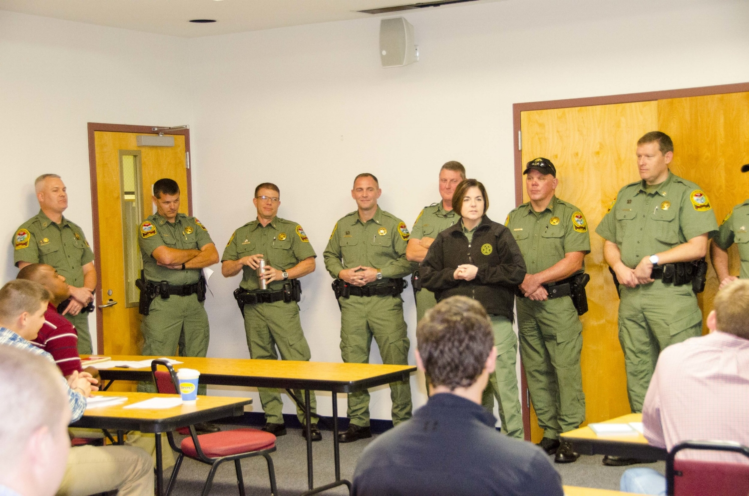 Once in class, the new hires received words of encouragement and advice from their supervisors and other veteran SCDNR Officers -- all of whom once went through the same grueling application process to wear the green uniform.
