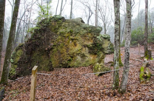 Side view of what was once the top of Peachtree Rock.