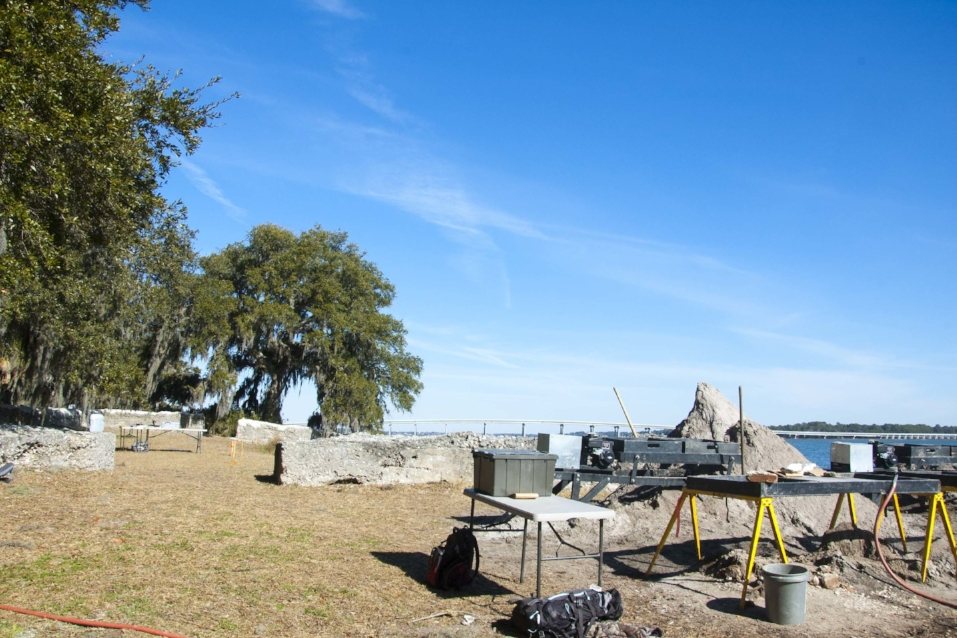 In 2015, archaeologists conducted a survey and excavation project at Fort Frederick.