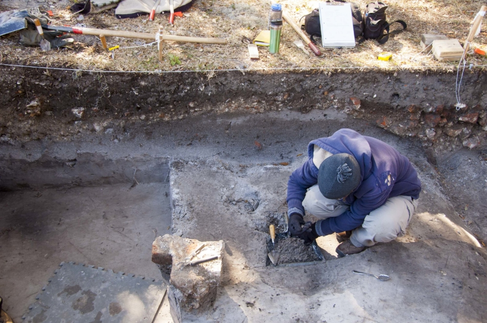 Painstaking excavation of a trench inside the fort's walls revealed brick rubble -- remains of the structures built to house soldiers and supplies -- as well as other artifacts. All artifacts located during the dig were cataloged carefully to support any future archaeology that may be done at the site.