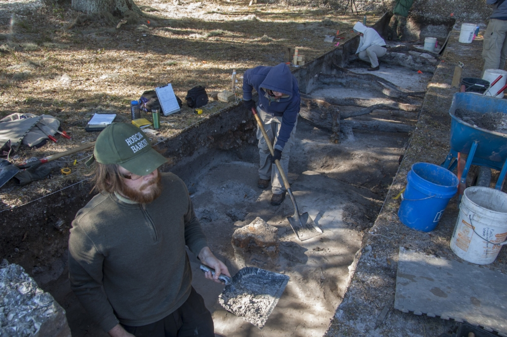 Archaeological excavations of this type require painstaking attention to detail and the careful cataloging of each find.