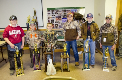 "Junior Division Awardees:    1st place – Luke Stock, age 12, Tabor City, m.C. with ""Mickey.""  2nd place – Austin Black, age 12, Moncks Corner, S.C. with ""Hitman.""  3rd place – Mason Dexter, age 11, Ridgeville, S.C., with ""Girl.""  4th place – Eli Cook, age 8, Nichols, S.C., with ""Deuce.""  5th place – Grahame Behie, age 10, Dorchester, S.C., with ""Koy.""  Sportsmanship Award – Hunter Seymore, age 7, Anderson, S.C., with ""Jake."""