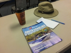 Ready to learn! With coffee, pen and paper in hand, your able correspondent was prepareded to soak up some knowledge.