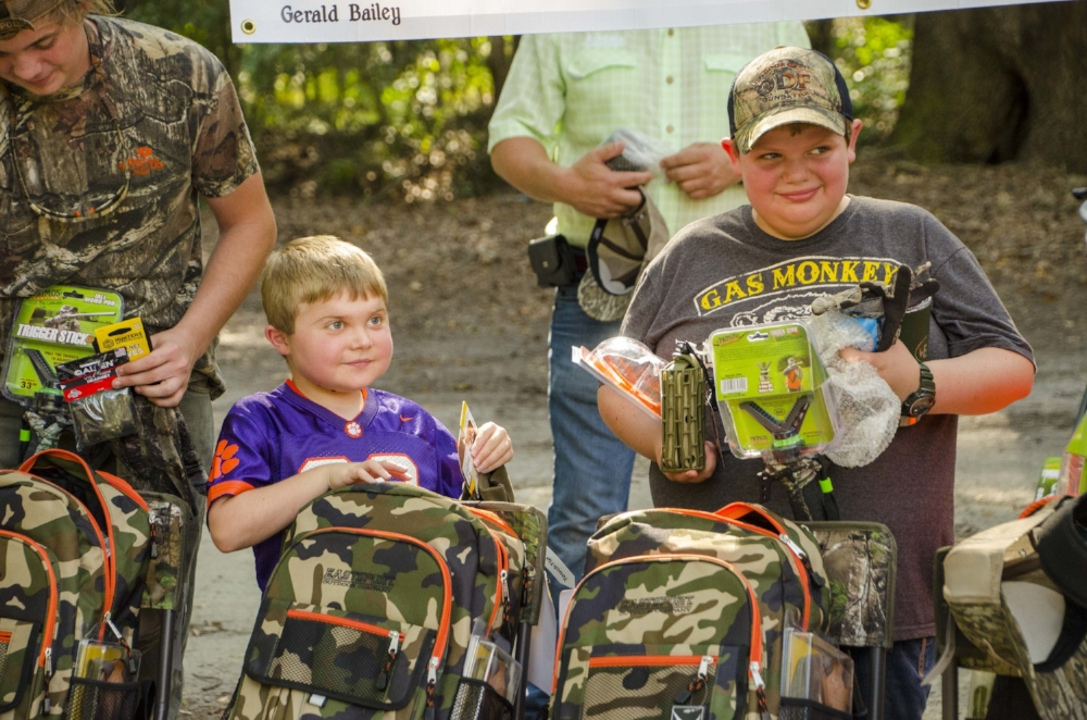 Donations from sponsors provided participants in the 2017 Lowcountry Dreams hunt with the equipment and extras needed for a successful outdoor adventure.   SCDNR photo by David Lucas