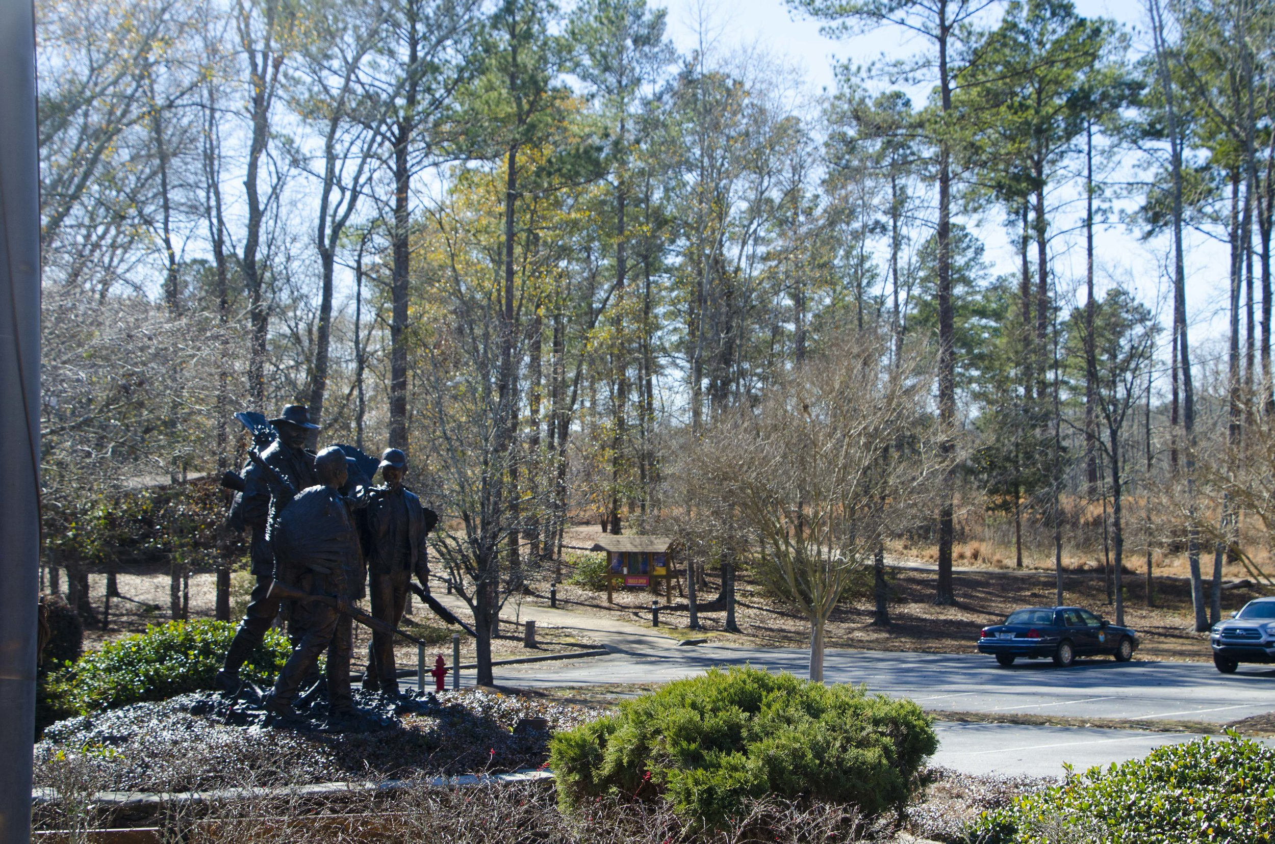 Old Blue parked at the NWTF Headquarters -- the facility's walking trails begin just up the hill.(SCDNR photo by D. Lucas)