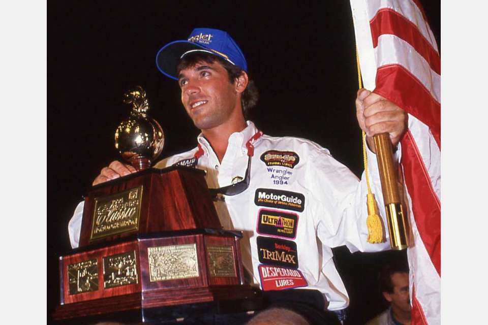 In professional bass fishing's greatest Cinderella Story ever, BASS Nation club angler Bryan Kerchal won the 1994 Bassmaster Classic. [photo courtesy Bassmaster]