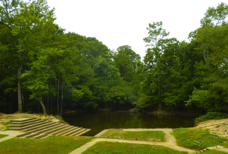 The canoe and kayak launch at Lynches River County Park is an excellent spot for a journey down the Lynches Scenic River's lower section.[photo by David Lucas]