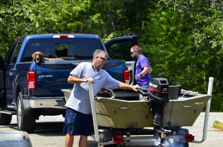 Getting ready for an afternoon ride at Chris Anderson Landing near Longs, S.C.[SCDNR image by David Lucas -- see complete photo gallery at the end of the article.]