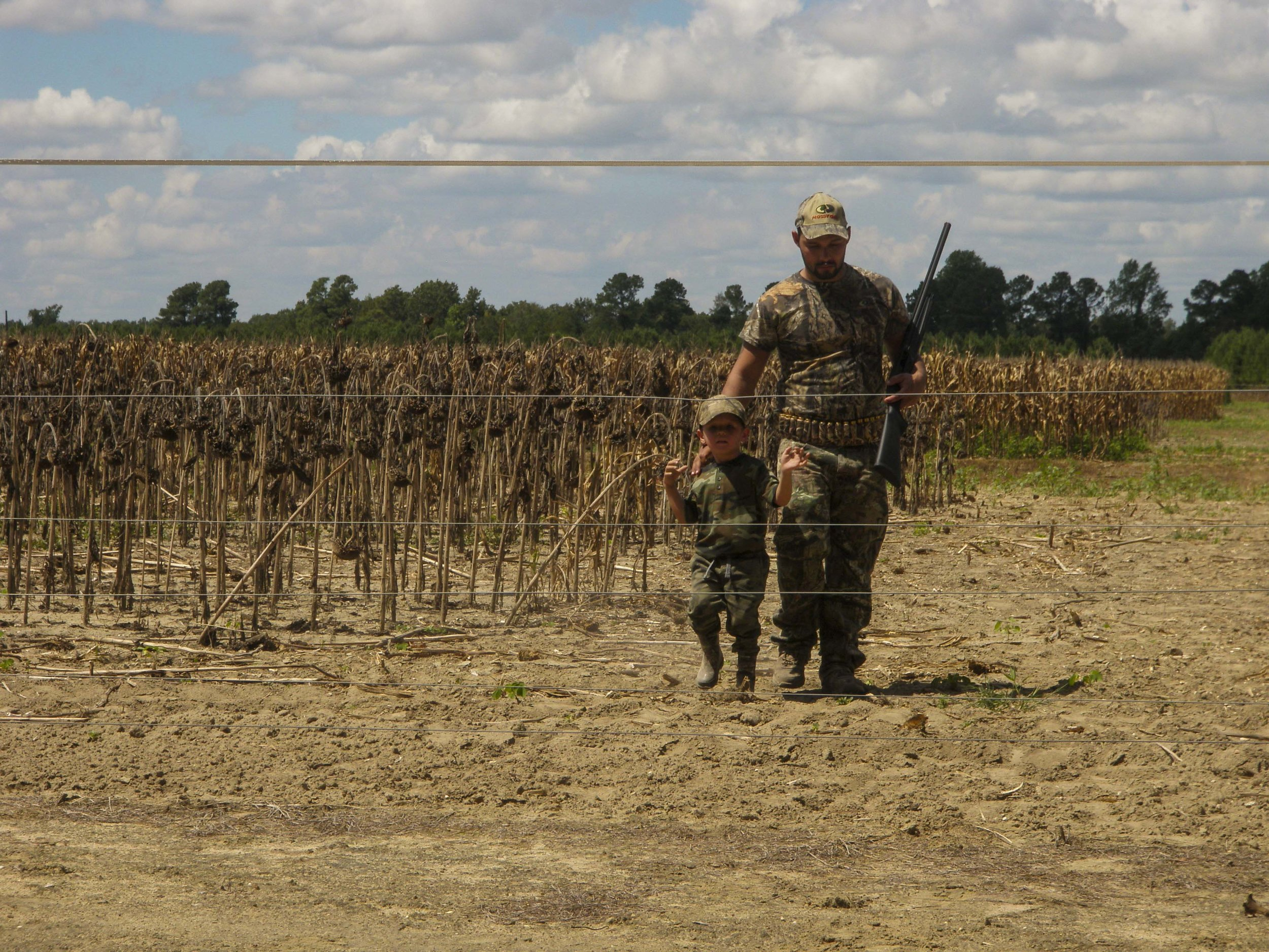 Hunters on Pee Dee Station dove field.