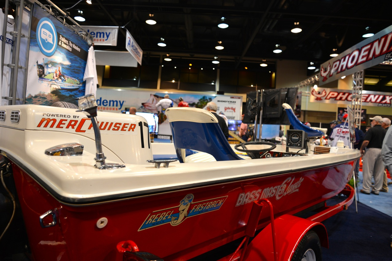 The bright red Rebel is a popular draw at Bassmaster events.