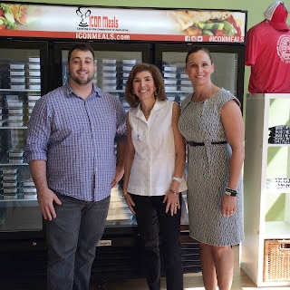 Posing with Patricia and Matt in front of the ICON Meals storefront where you can see all the delicious refrigerated meals behind us!