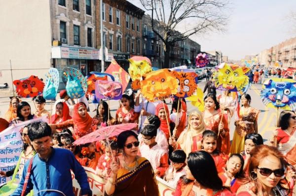 Noboborsho celebration in Kensington, Brooklyn. Photo Zainab Iqbal/BKYNER