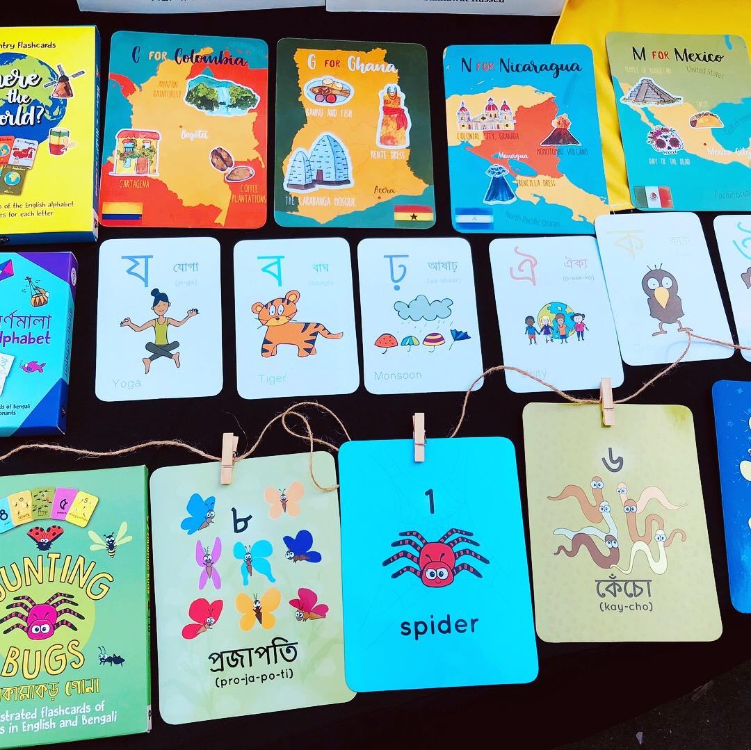 Flashcards in a row.JPG