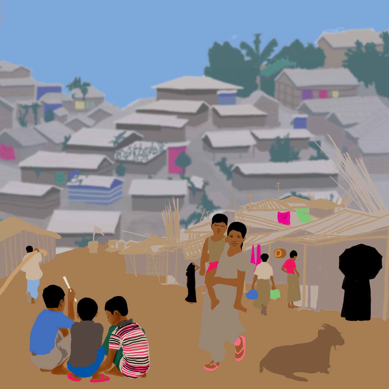 A view of Kutupalong Refugee Camp
