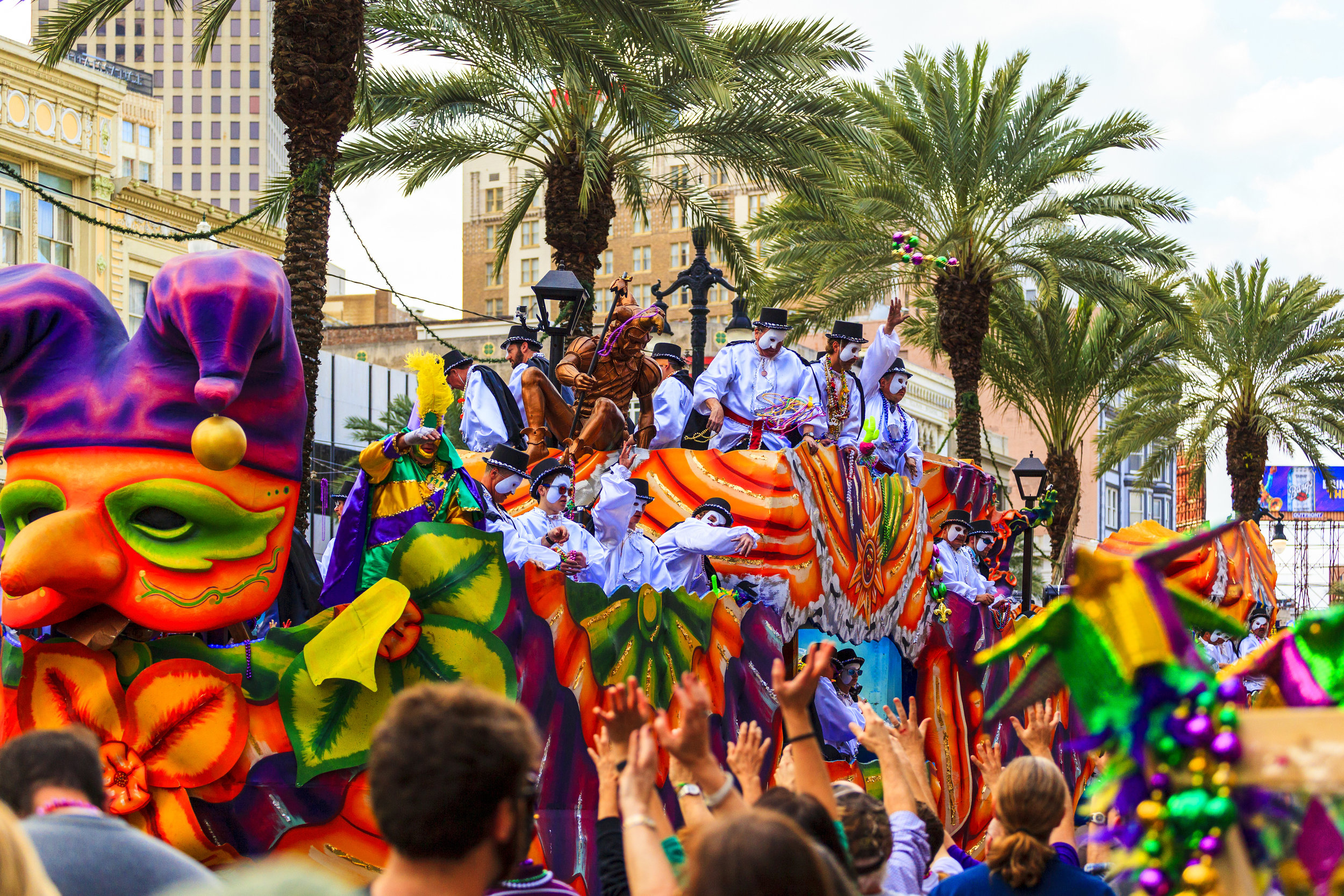 Mardi Gras is the biggest celebration in the city of New Orleans.