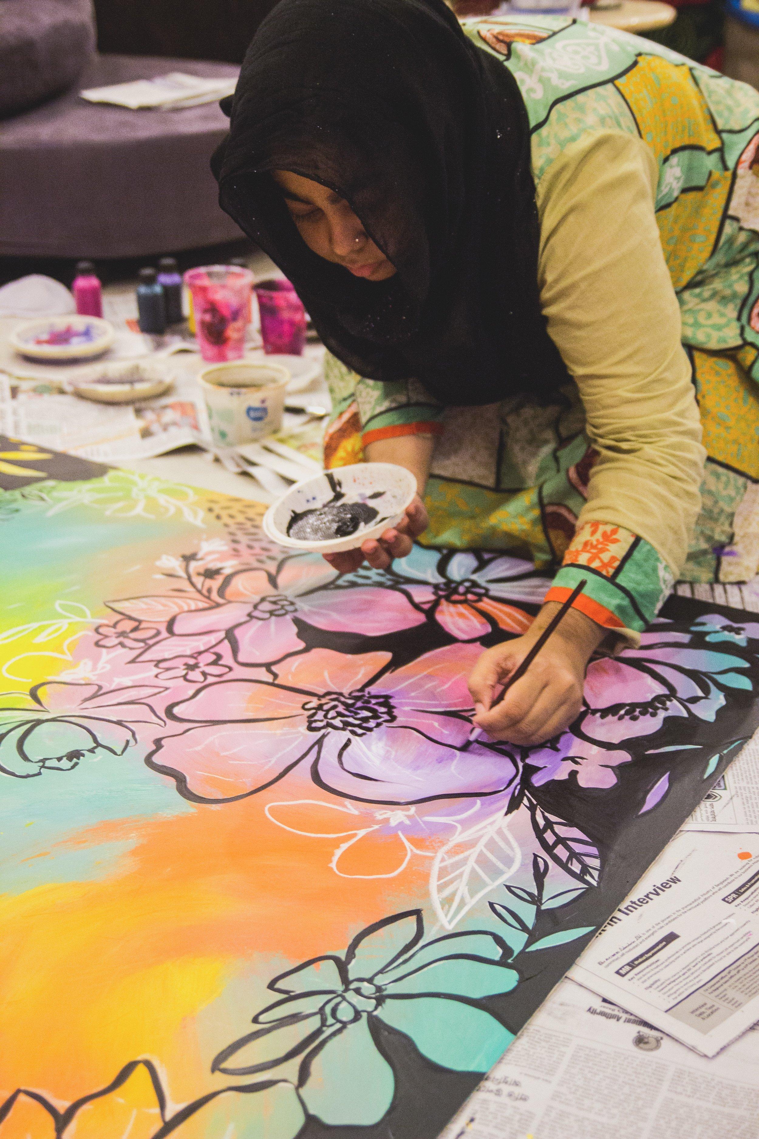 The artist+entrepreneur at work!