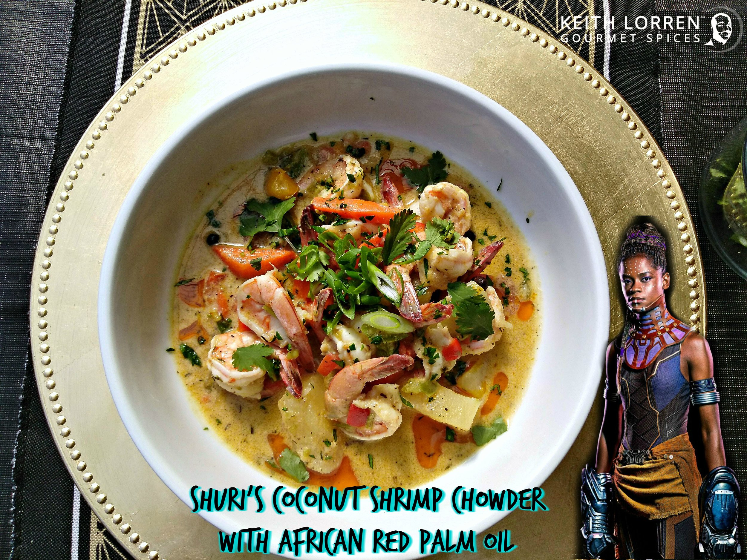 Shuri Coconut Seafood chowder with African red palm oil.jpg