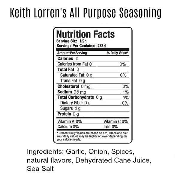Keith Lorren All purpose seasoning