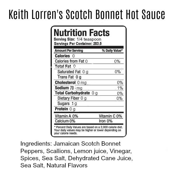 Keith Lorren Scotch Bonnet Hot Sauce