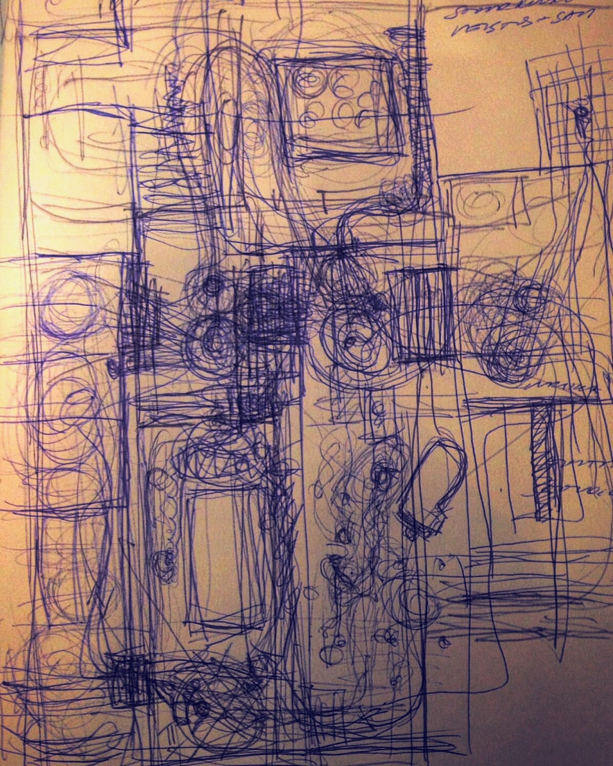 How the performance floated at the Museum. ( My scetch)