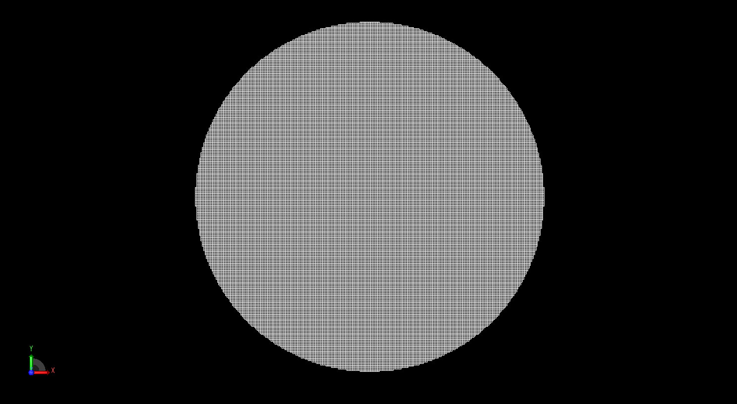 Figure 2  The sphere shown meshed in the FDTD grid at a cell size of 1 mm.