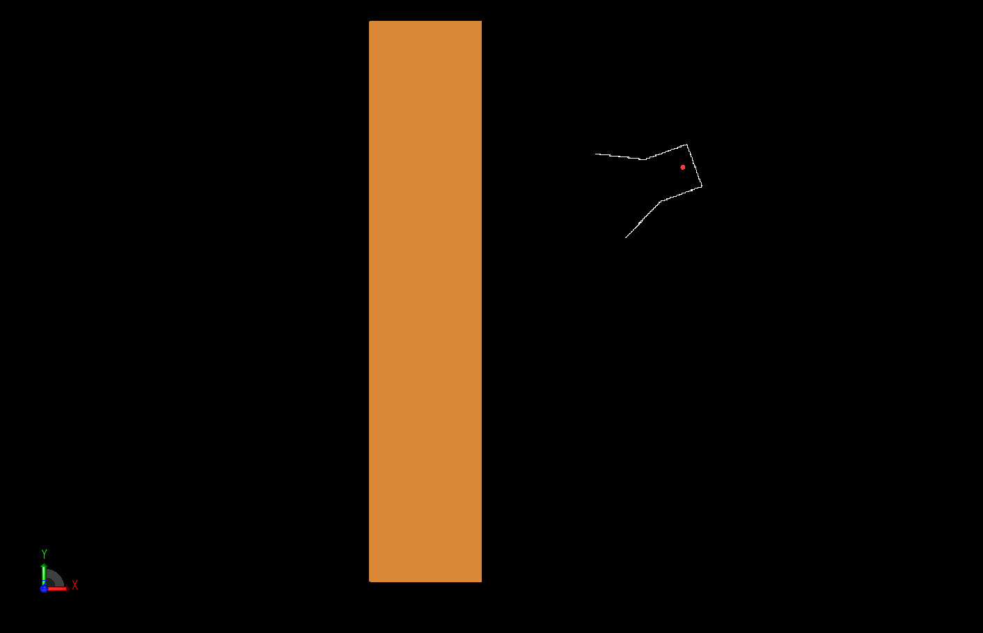 Figure 1  The basic two-dimensional geometry of the material slab and the tilted horn radiator.