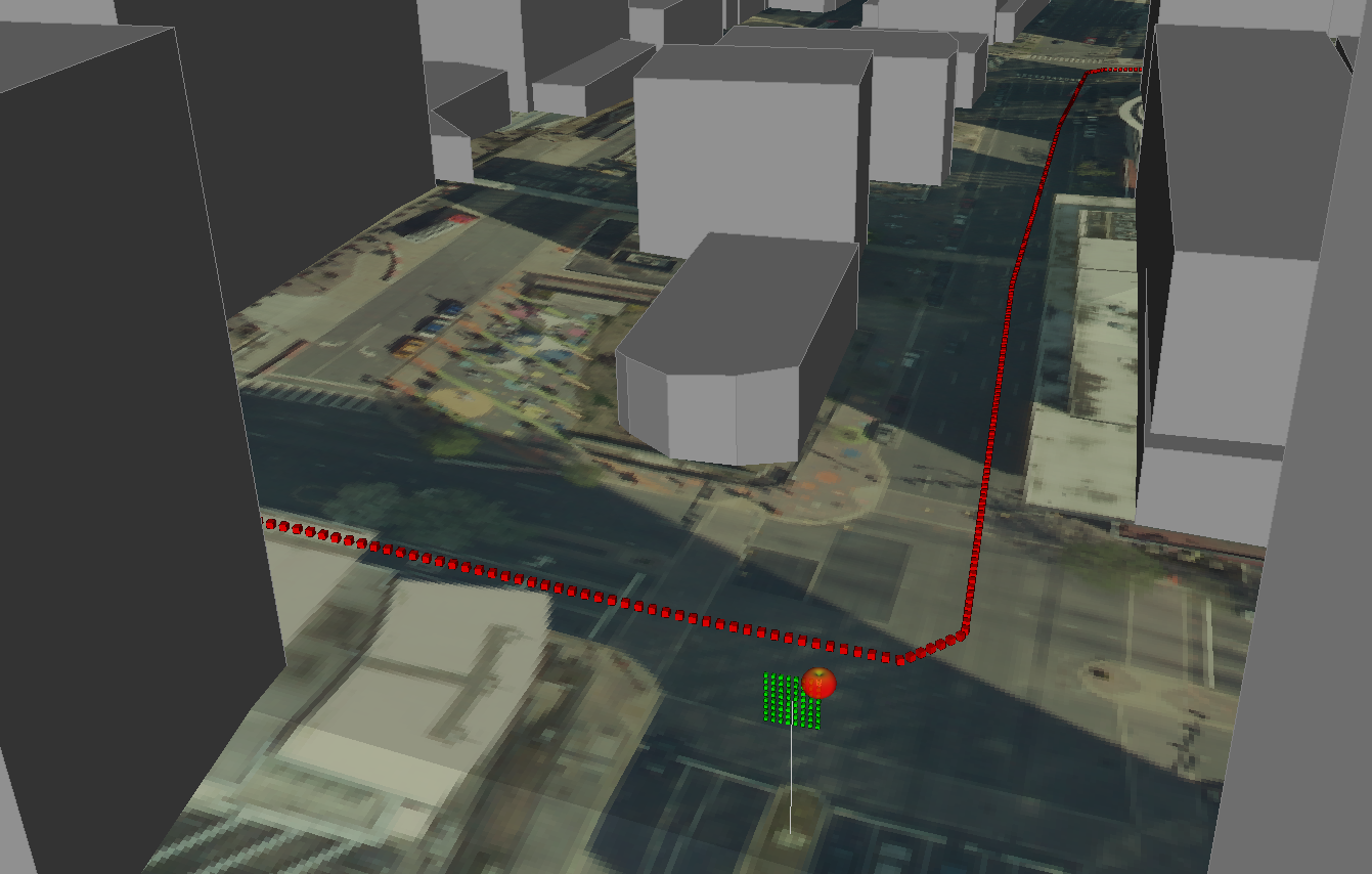 Figure 1: Rosslyn 3D building and terrain data are set up for SISO and MIMO analysis within Wireless InSte.