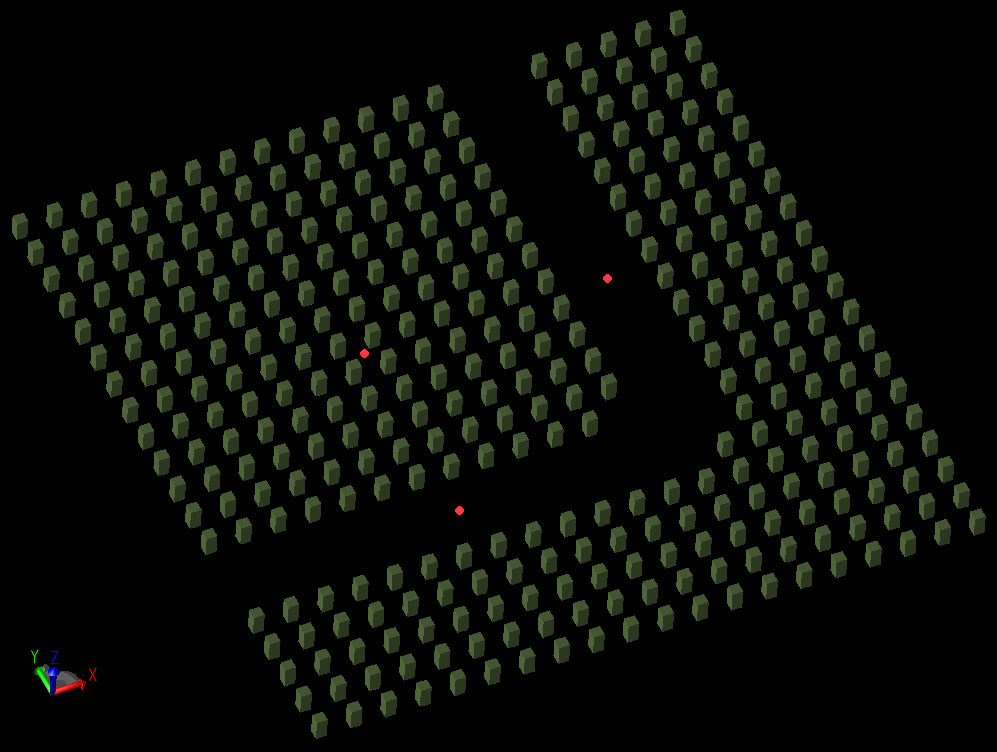 Figure 1  The two-dimensional array of rods.