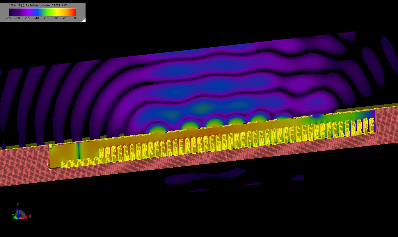 Figure 9  Image of the transient electric field in a cross-section of the device.