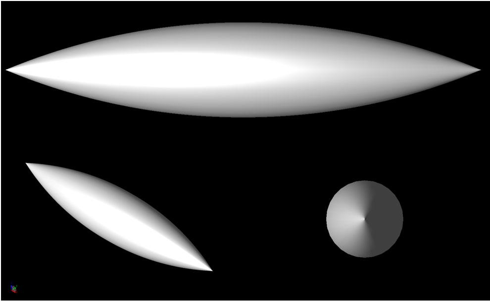 Figure 1  The Single Ogive geometry.