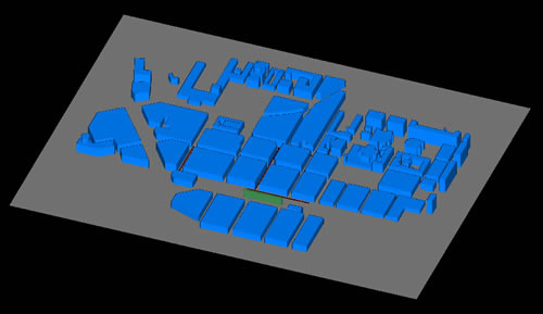 Figure 2. Wireless InSite model of downtown Helsinki.
