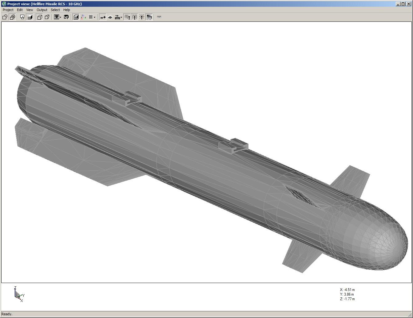 Figure 1: Hellfire missile geometry