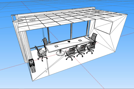 High resolution modern conference room.
