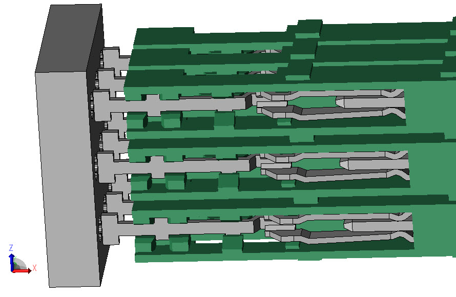 Figure 2: XFdtd connector example of a 3D model