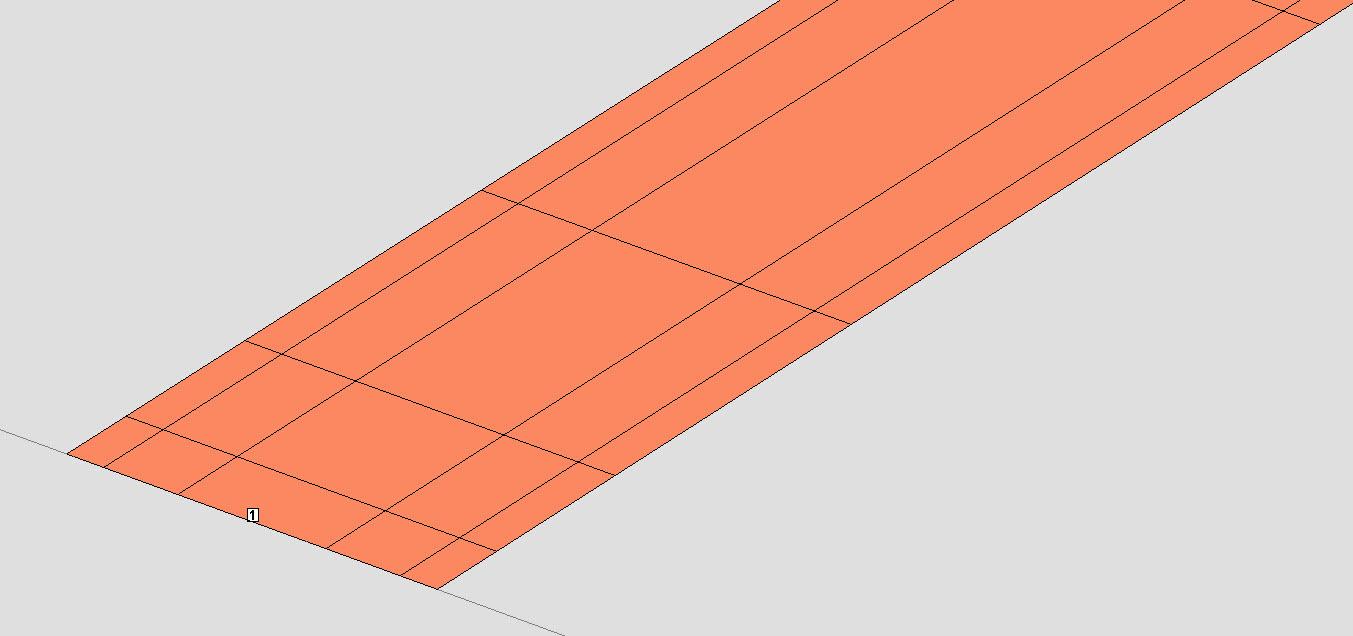 Fig. 3: Sonnet planar 3D MoM stripline subsectioning