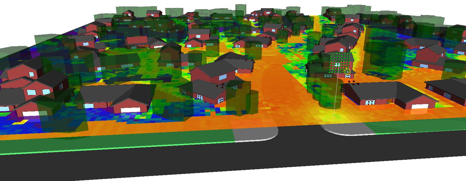 树木和房屋的阴影会显著影响附近的覆盖范围