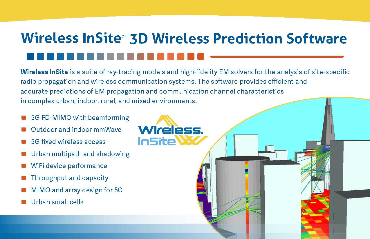 Wireless InSite Product Snapshot
