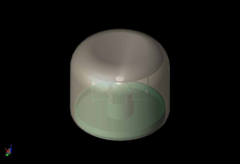 Figure 1: A three-dimensional view of a generic WiFi router device is shown with the internal antenna arrays partially visible through the cover.