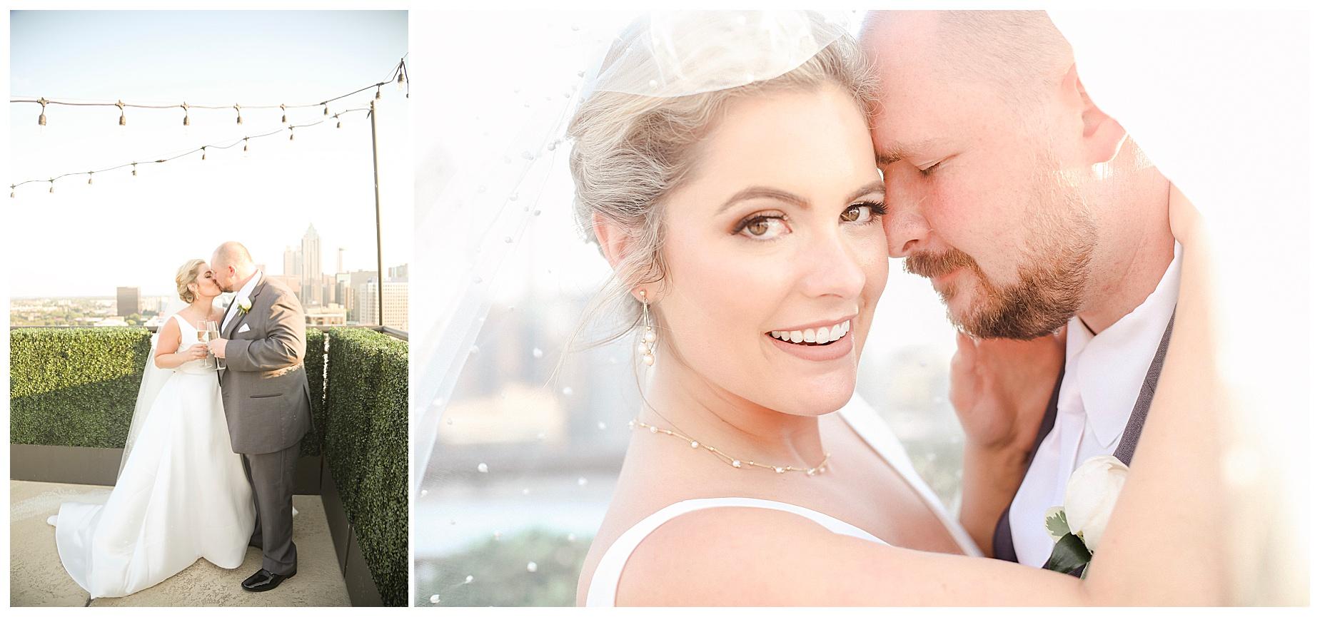 Atlanta Skyline Wedding